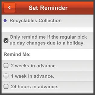 Image of My Waste App Reminders
