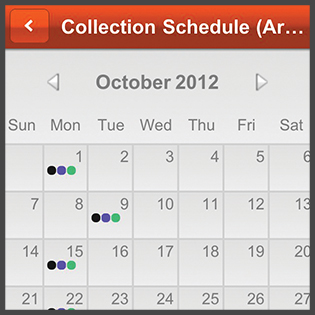 Image of My Waste App Calendar