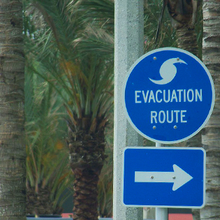 Evacuation Road Sign