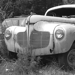 old junked car