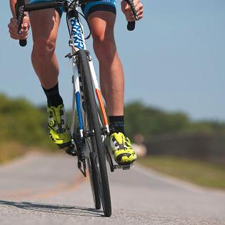legs riding bike