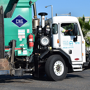 Solid Waste Truck with CNG sticker