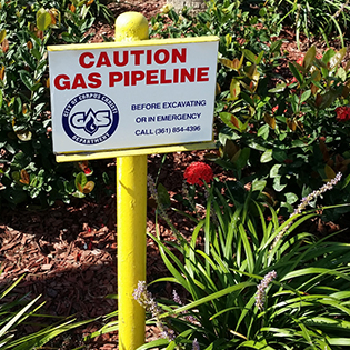 Caution Gas Pipeline