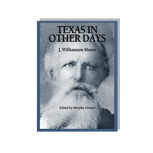 Book cover of Texas in other days