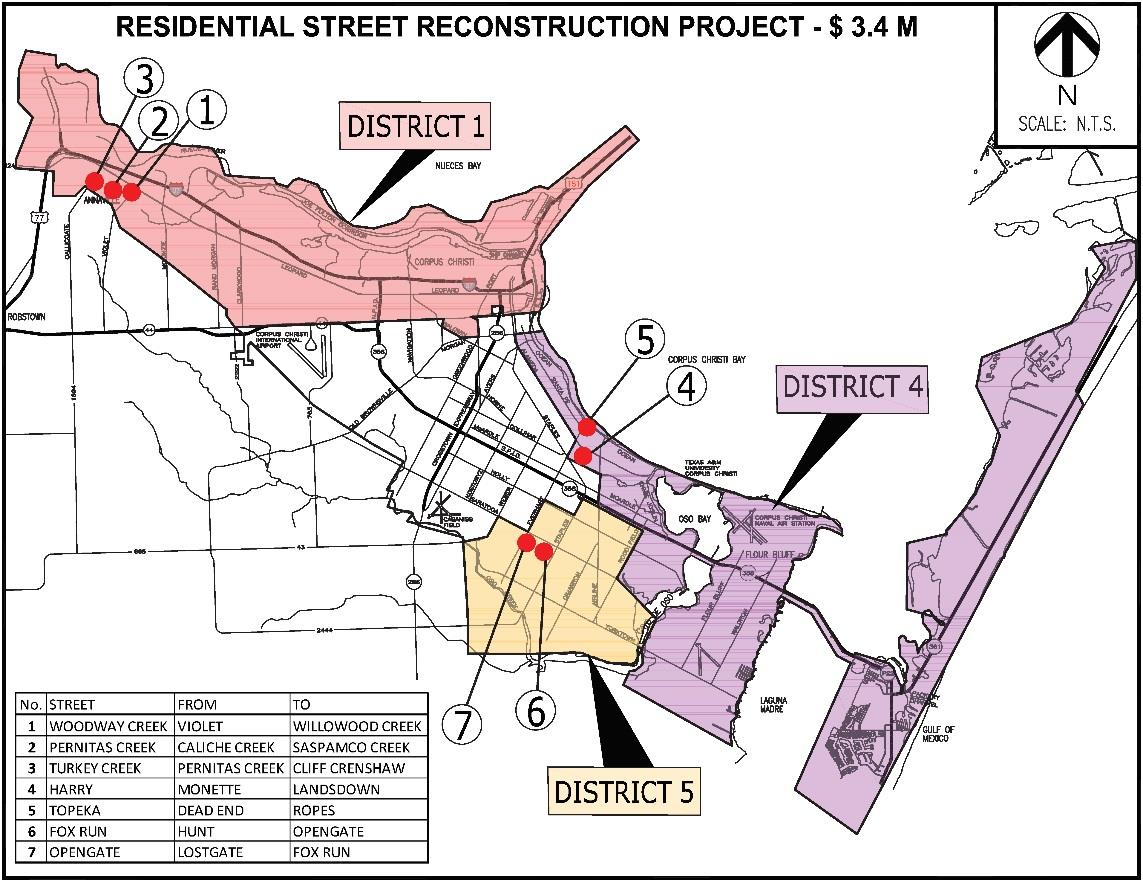 Map of Residential Rebuild Project