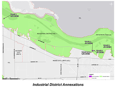 Industrial District No. 1 Annexation Area Map