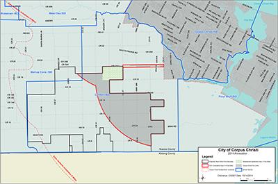 Southside FM 2444 Annexation Area Map