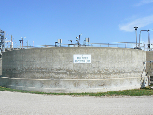 raw water receiving unit