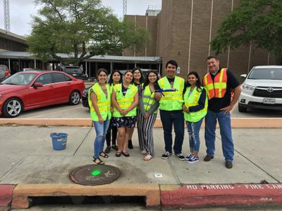 Group photo of Storm Inlet Marking Program volunteers.