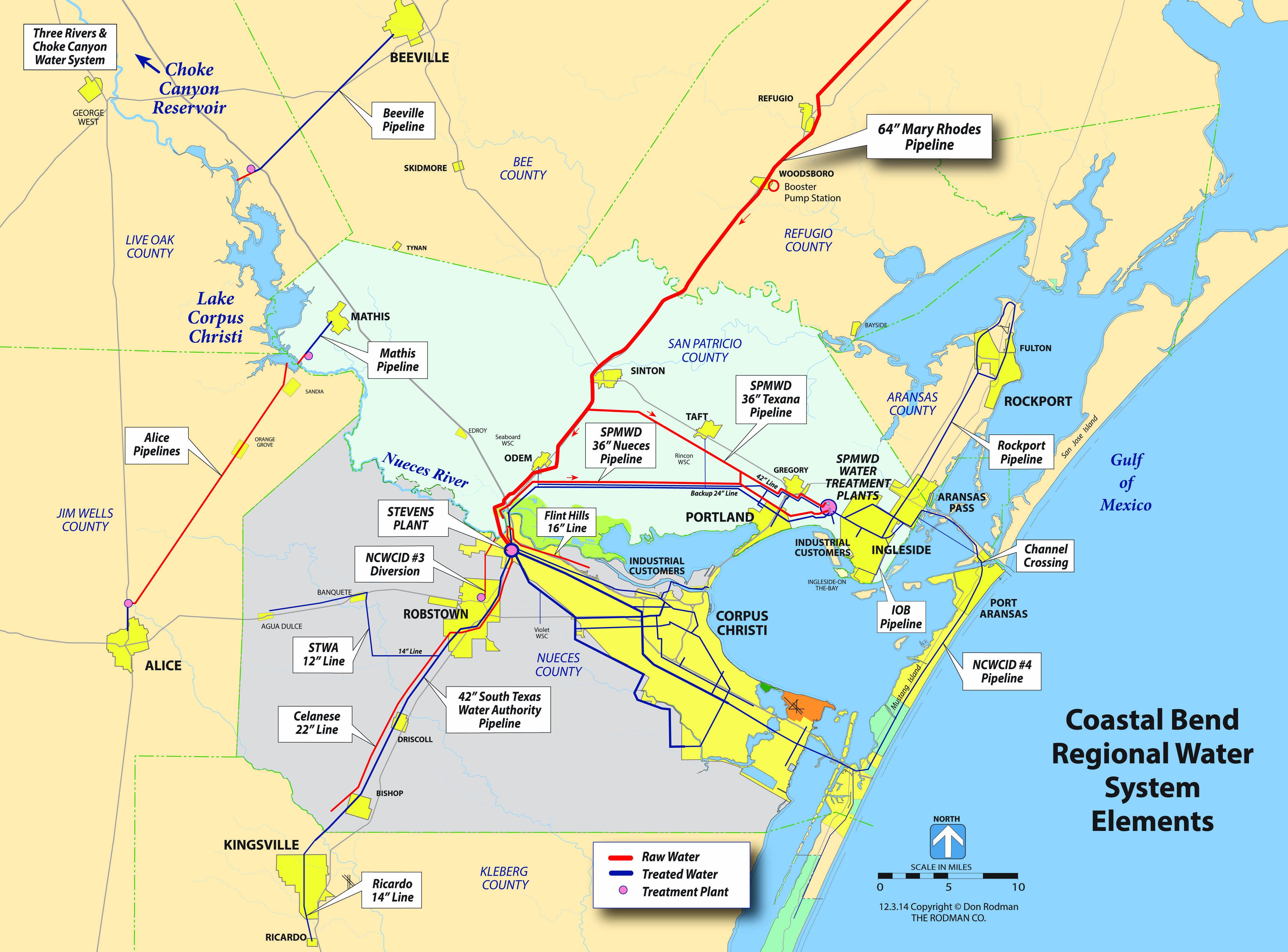 Corpus Christi Map Of Texas.Water Department City Of Corpus Christi